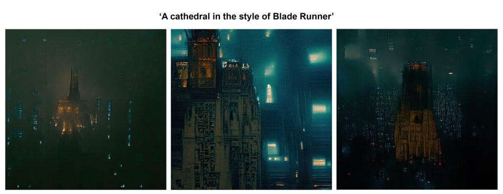 Blade Runner cathedral - BigSleep