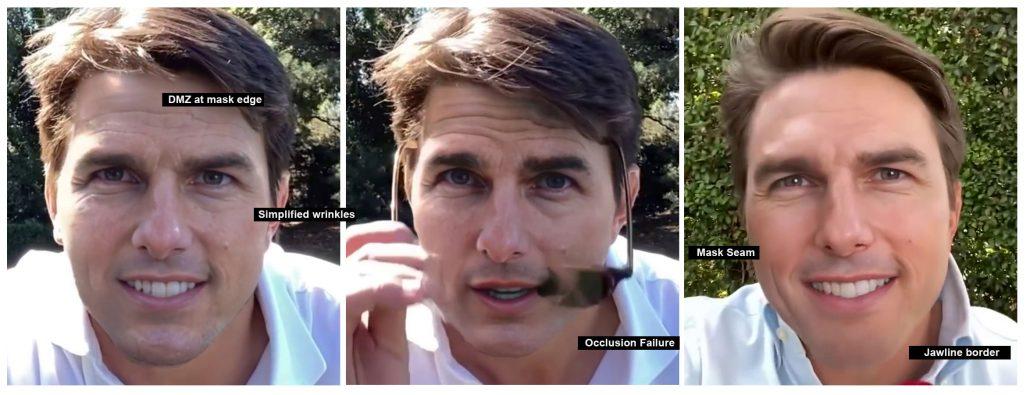 Glitches in Tom Cruise deepfake
