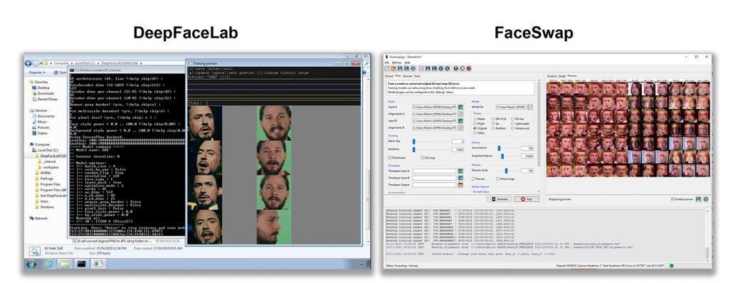 DeepFaceLab and FaceSwap